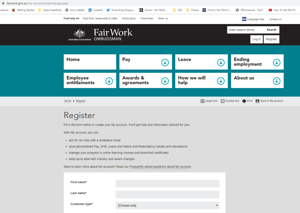 Register for updates to comply with FWA